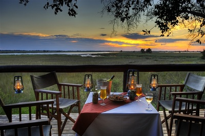 Private dining at Camp Moremi, Botswana