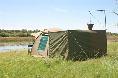 En suite tented accommodation on your Fish Eagle Safari, Botswana