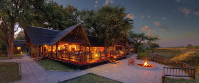 Main area at night, Khwai River Lodge, Botswana