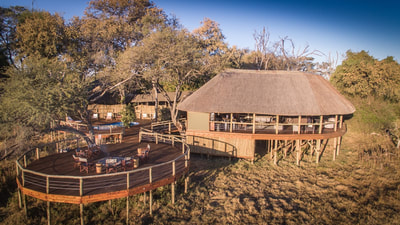 Main area and fire deck at Mma Dinare, Okavango Delta