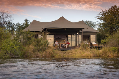 Luxury tented suite at Old Drift Lodge, Victoria Falls