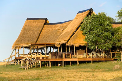 Main area at Selinda Camp, Botswana